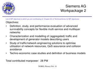 Siemens AG  Workpackage 2