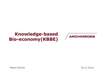 Knowledge-based Bio-economy (KBBE)
