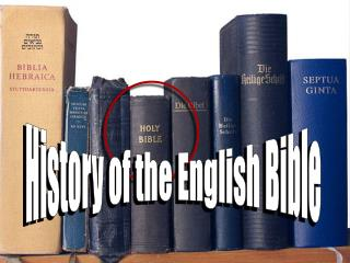History of the English Bible