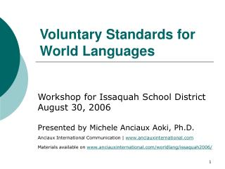 Voluntary Standards for World Languages
