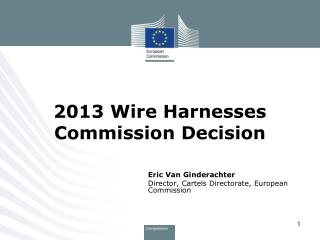 2013 Wire Harnesses Commission Decision