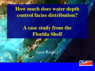 How much does water depth control facies distribution?  A case study from the  Florida Shelf