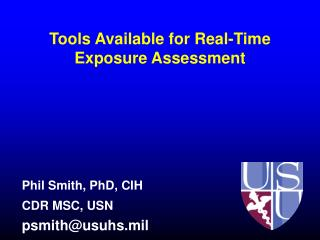 Tools Available for Real-Time Exposure Assessment