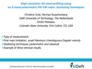 High resolution 3D wind profiling using  an S-band polarimetric FM-CW radar: dealiasing techniques