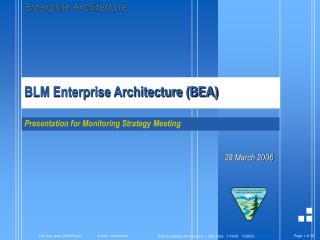 BLM Enterprise Architecture (BEA)