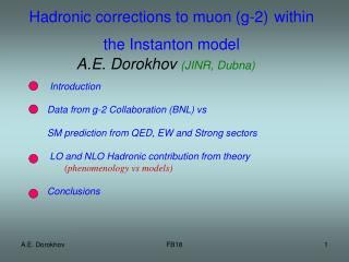 Hadronic corrections to muon  (g-2) within the Instanton model