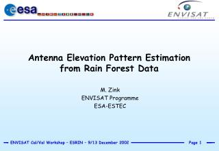 Antenna Elevation Pattern Estimation from Rain Forest Data