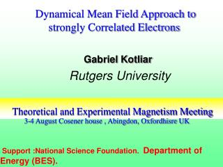 Theoretical and Experimental Magnetism Meeting