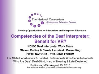 Creating Opportunities for Interpreters and Interpreter Educators