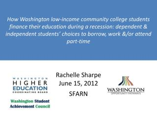 Rachelle Sharpe June 15, 2012 SFARN