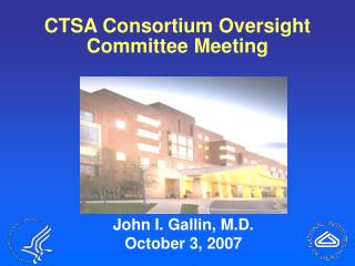 CTSA Consortium Oversight Committee Meeting