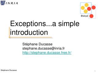 Exceptions...a simple introduction
