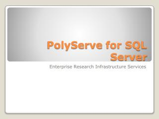 PolyServe  for SQL Server
