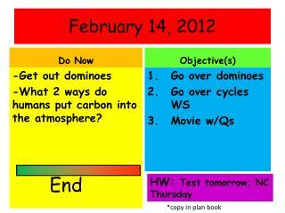 February  14,  2012