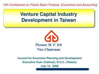 Council for Economic Planning and Development Executive Yuan (Cabinet), R.O.C. (Taiwan)