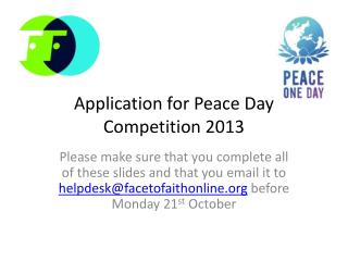 Application for Peace Day Competition 2013