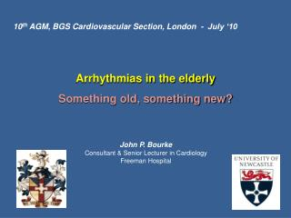 Arrhythmias in the elderly Something old, something new?