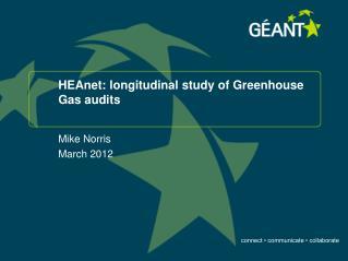 HEAnet: longitudinal study of Greenhouse Gas audits