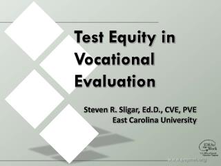 Test Equity in Vocational Evaluation