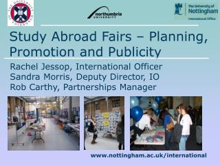 Study Abroad Fairs – Planning, Promotion and Publicity