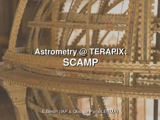 Astrometry @ TERAPIX: SCAMP
