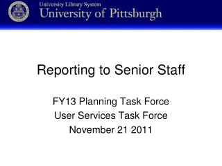 Reporting to Senior Staff