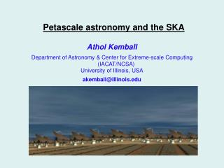 Petascale astronomy and the SKA