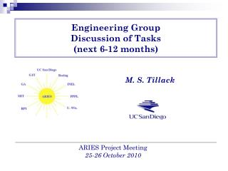 Engineering Group  Discussion of Tasks (next 6-12 months)
