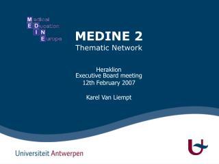 MEDINE 2 Thematic Network
