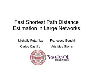 Fast Shortest Path Distance Estimation in Large Networks