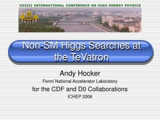 Non-SM Higgs Searches at the TeVatron