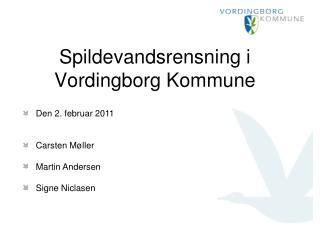 Spildevandsrensning i Vordingborg Kommune