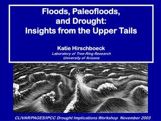 CLIVAR/PAGES/IPCC Drought Implications Workshop  November 2003