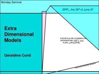 Extra Dimensional Models
