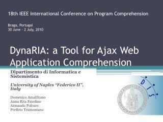 DynaRIA : a Tool for Ajax Web Application Comprehension