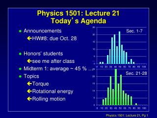 Physics 1501: Lecture 21 Today � s Agenda