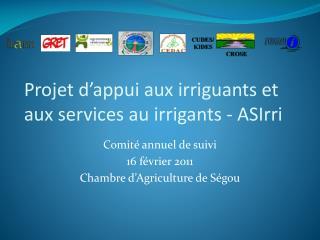 Projet d'appui aux irriguants et aux services au irrigants - ASIrri