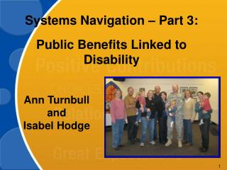 Systems Navigation – Part 3:  Public Benefits Linked to Disability