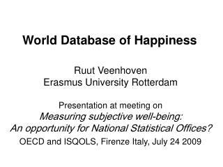World Database of Happiness
