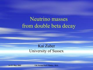 Neutrino masses  from double beta decay