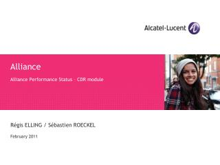 Alliance Alliance Performance Status – CDR module