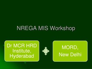 NREGA MIS Workshop