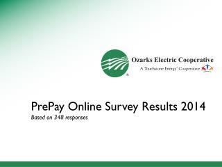 PrePay Online Survey Results 2014 Based on 348 responses