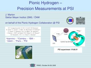 Pionic Hydrogen –  Precision Measurements at PSI
