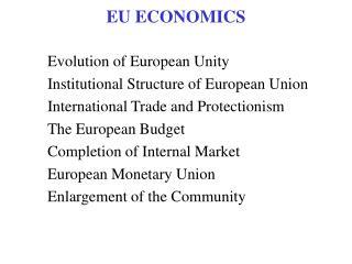 EU ECONOMICS