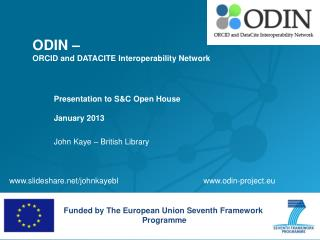 ODIN �  ORCID and DATACITE Interoperability Network