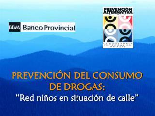 PREVENCI N DEL CONSUMO  DE DROGAS:   Red ni os en situaci n de calle