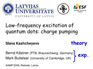 Low-frequency excitation of  quantum dots: charge pumping