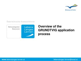Overview of the GRUNDTVIG application process