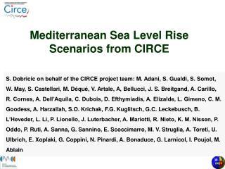 Mediterranean Sea Level Rise Scenarios from CIRCE